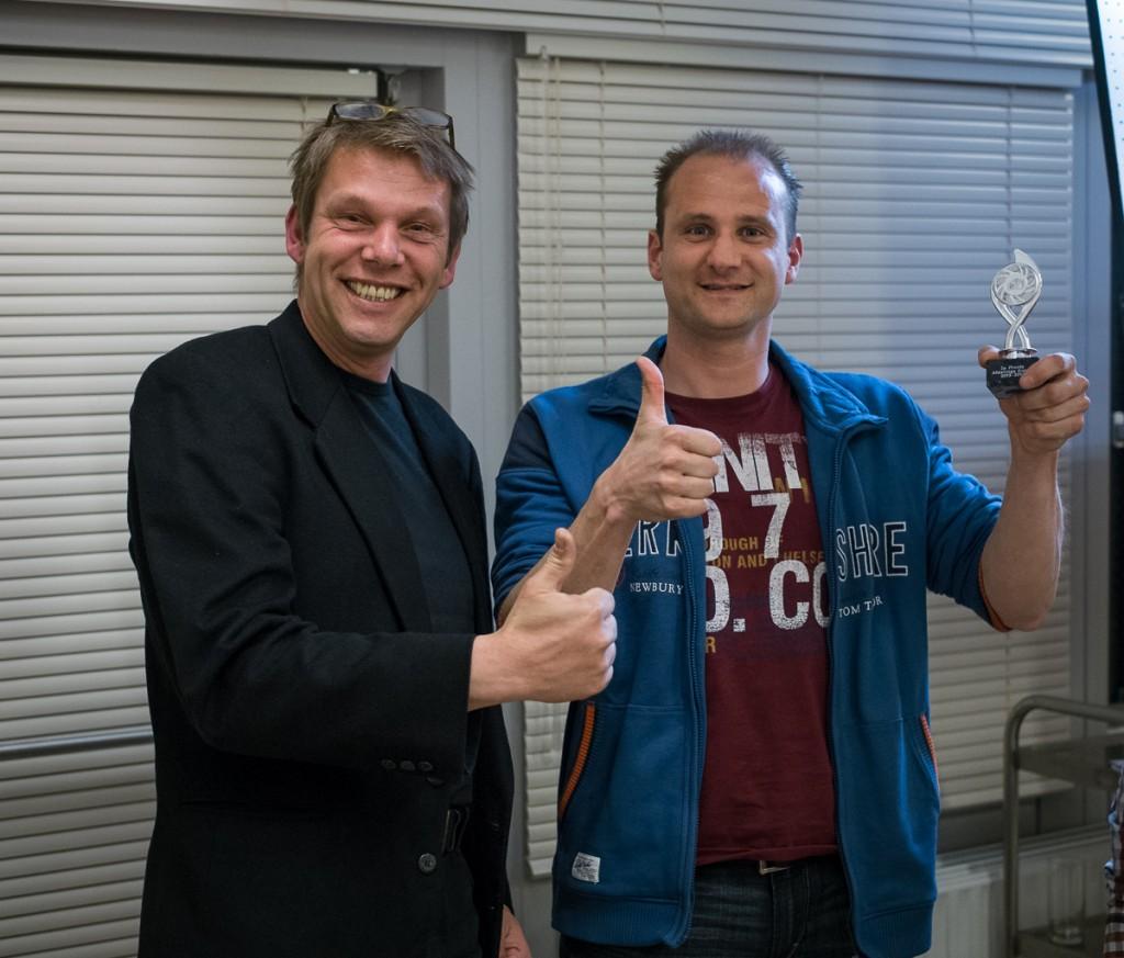Rene Kuipers met zijn prijs (gedeelde 2e plaats)